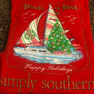 Simply Southern Tops - Simply Southern long sleeve T-shirt. Size S. Red